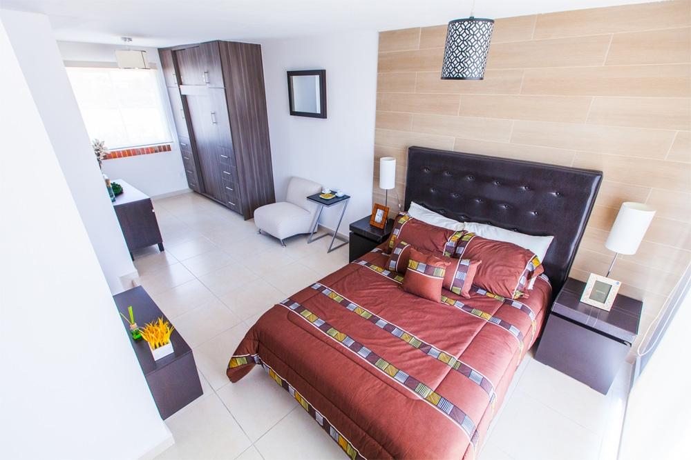 Cómoda recamara en casa de tres piso modelo Javer B en Coacalco Residenza Javer