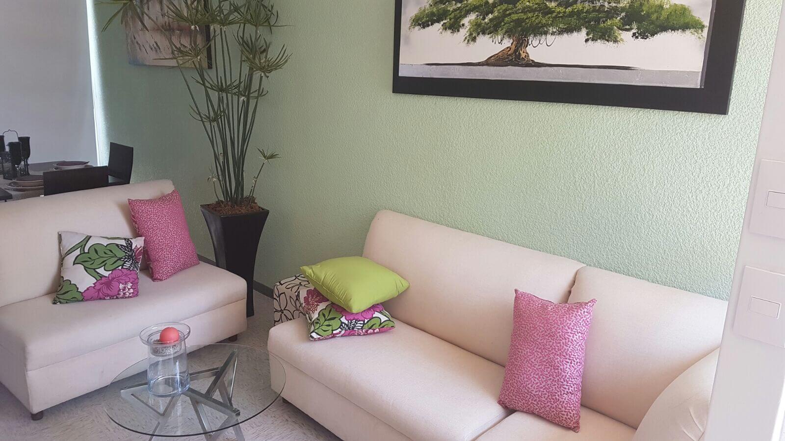 Cómoda sala de  casa Esmeralda Hogares Unión Paseos del Pedregal