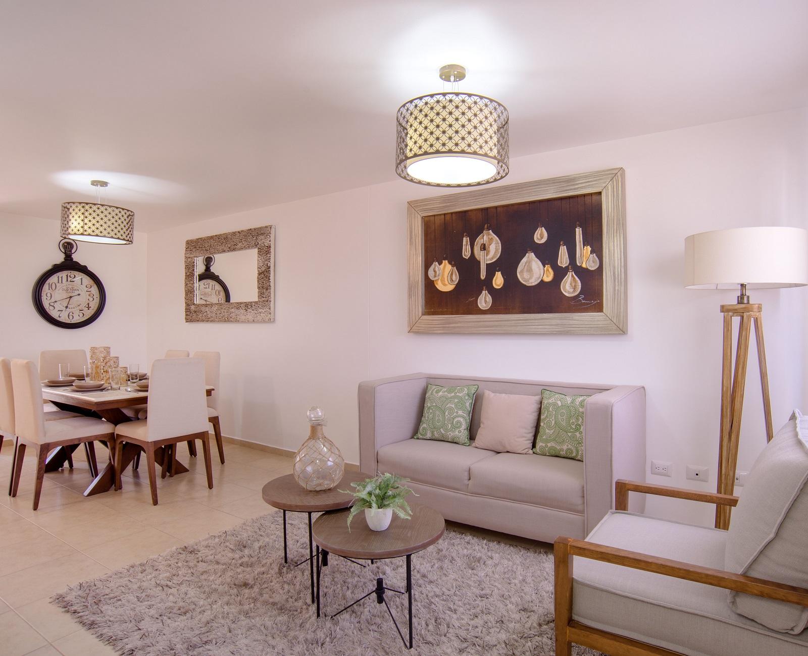 cómoda sala  de casa modelo San Miguel de Los encinos en Querétaro