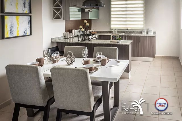 Fachada de casa modelo Obsidiana en Yucatan de Hogares Unión Las palmas II