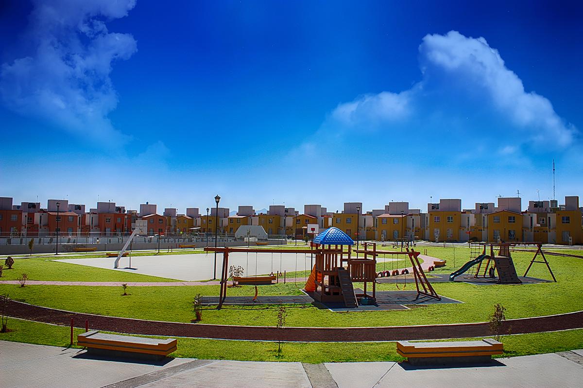 Plano de casa modelo  recinto en el centro de Pachuca de Paseos de la plata.