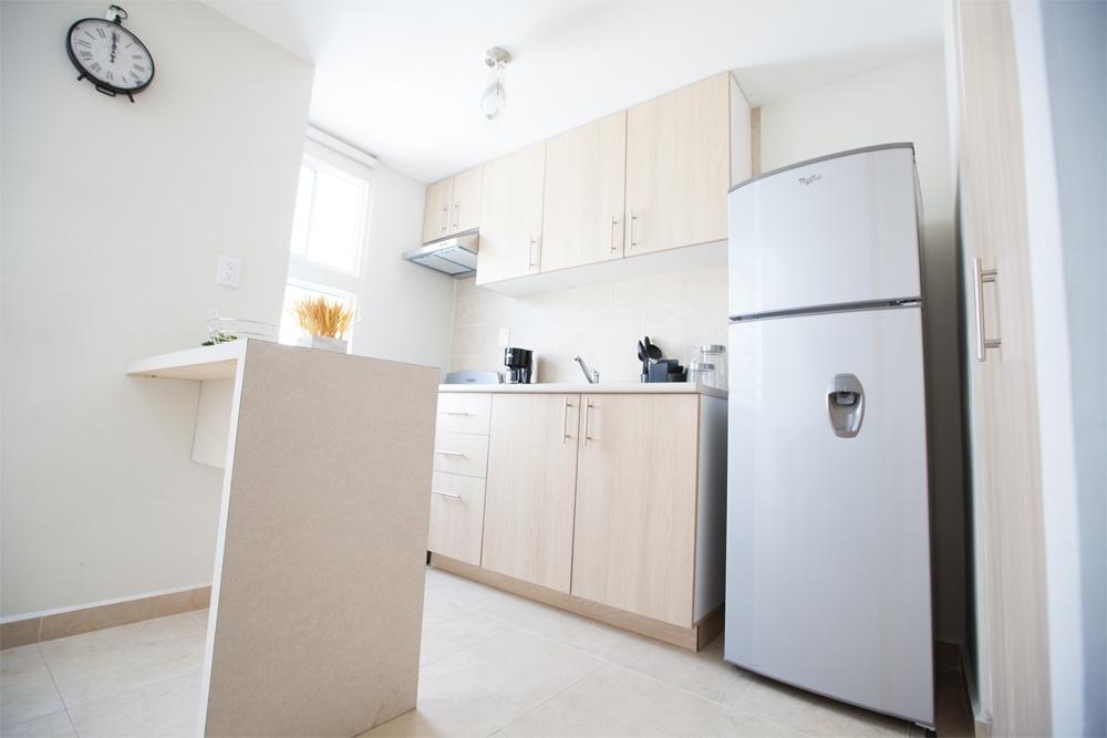 Práctica cocina de casa modelo Encino plus de Javer Residenza Privadas en Coacalco