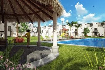 Palapas de casa modelo recinto en Real Santa Fe en Morelos