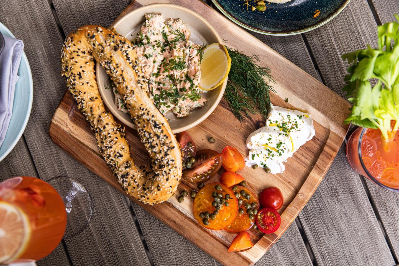 Jerusalem Bagel & Salmon Spread at Aba