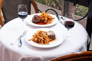 Steak au Poivre and Bordelaise at Mon Ami Gabi