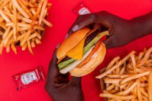 Burger and fries at M Burger