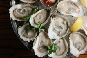 Fresh oysters at Shaw's