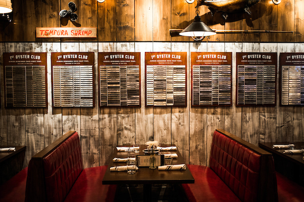 Oyster Bah's booths