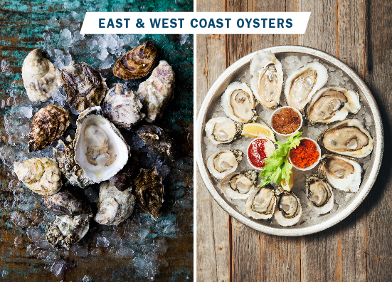 before and after of oysters