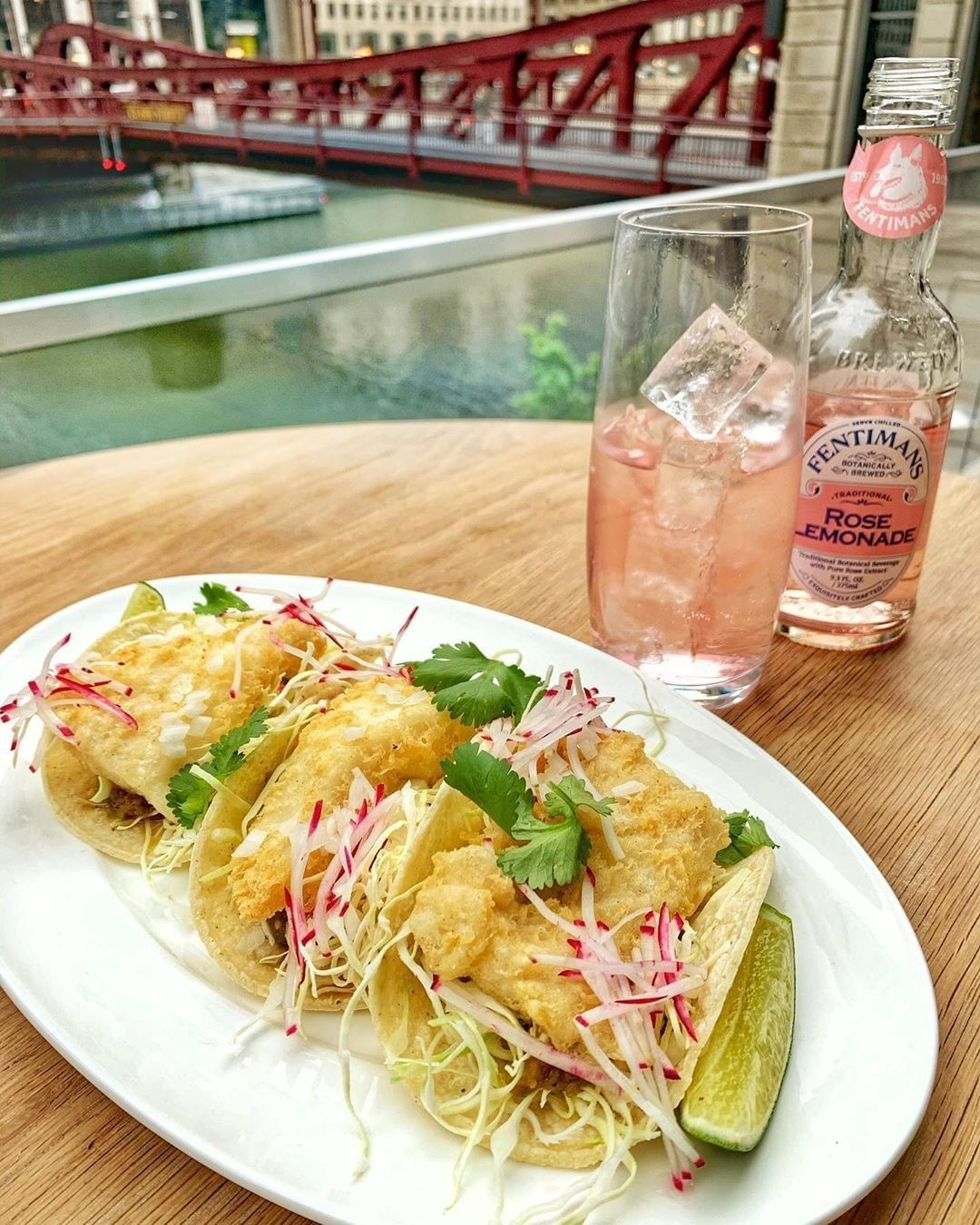 RPM Seafood fish tacos