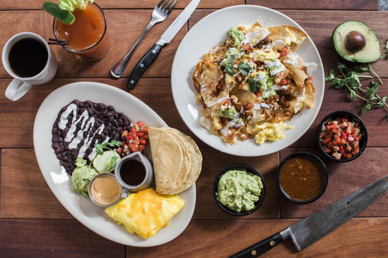 Hub brunch nachos and tacos