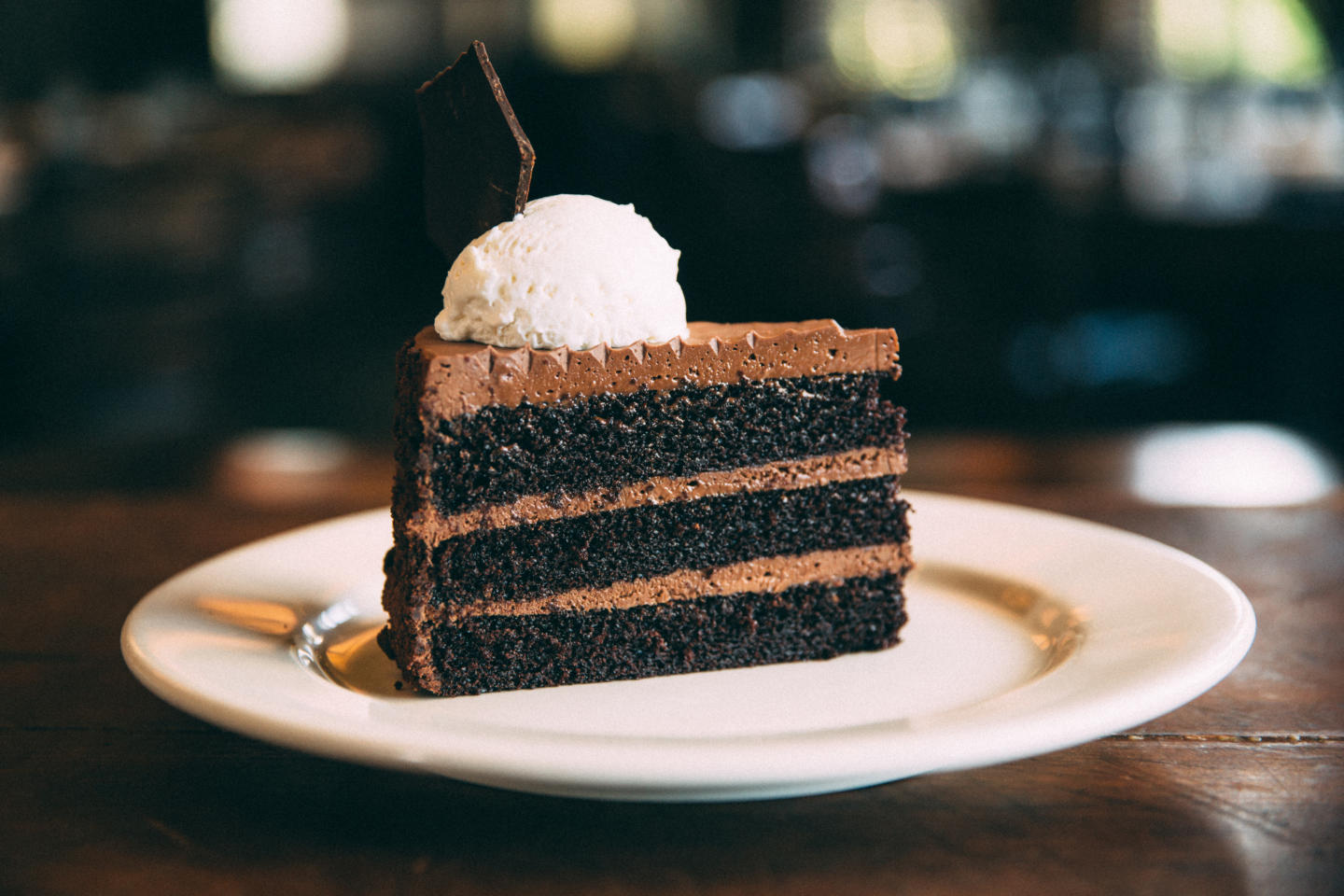 Wildfire triple layer chocolate cake