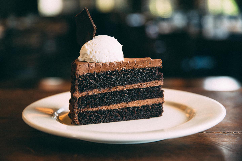 Wildfire triple layer chocolate cake