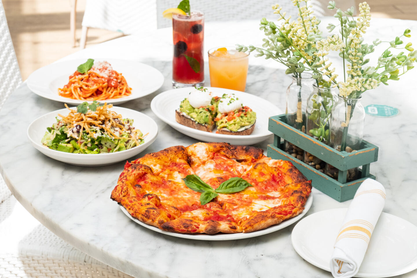 Summer House Pizza nad brunch dishes
