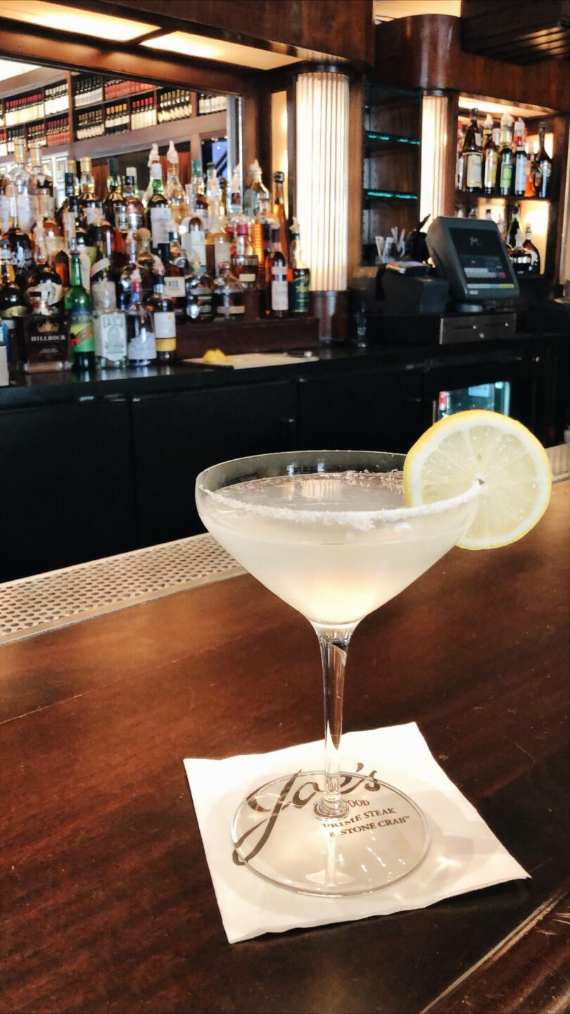Joe's Seafood Lemon Drop Martini