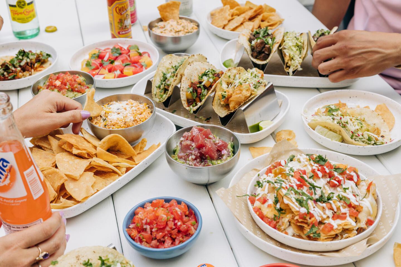 Tallboy Taco food on a table