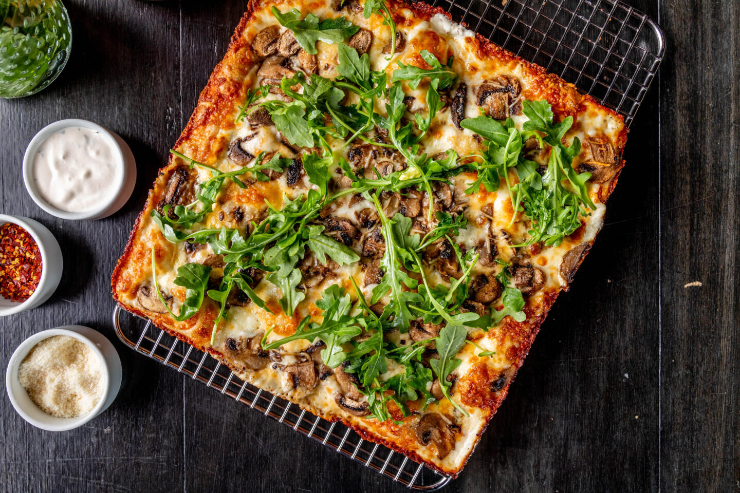 Mushroom Pizza from B Square