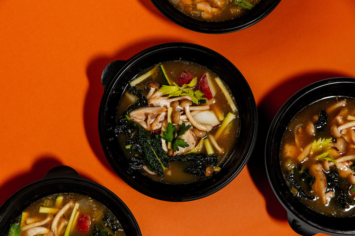 Broth with chicken