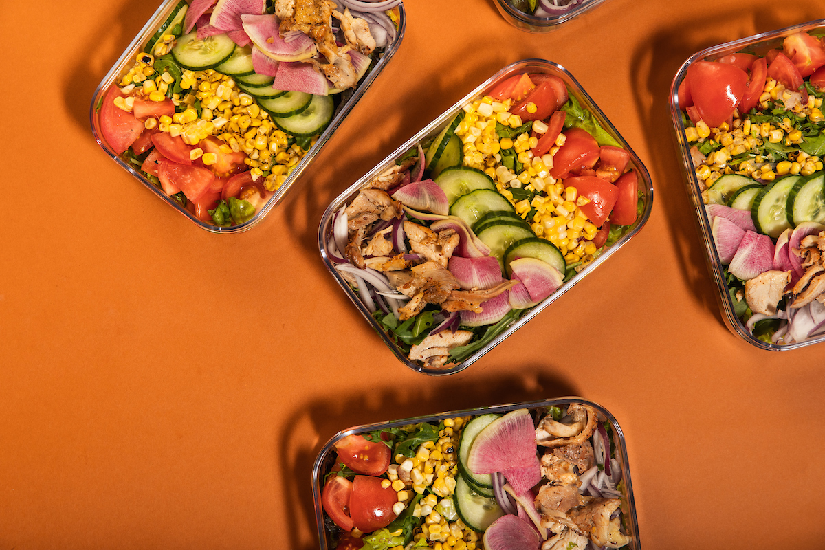 Cobb Salad with Chicken Meal Prep