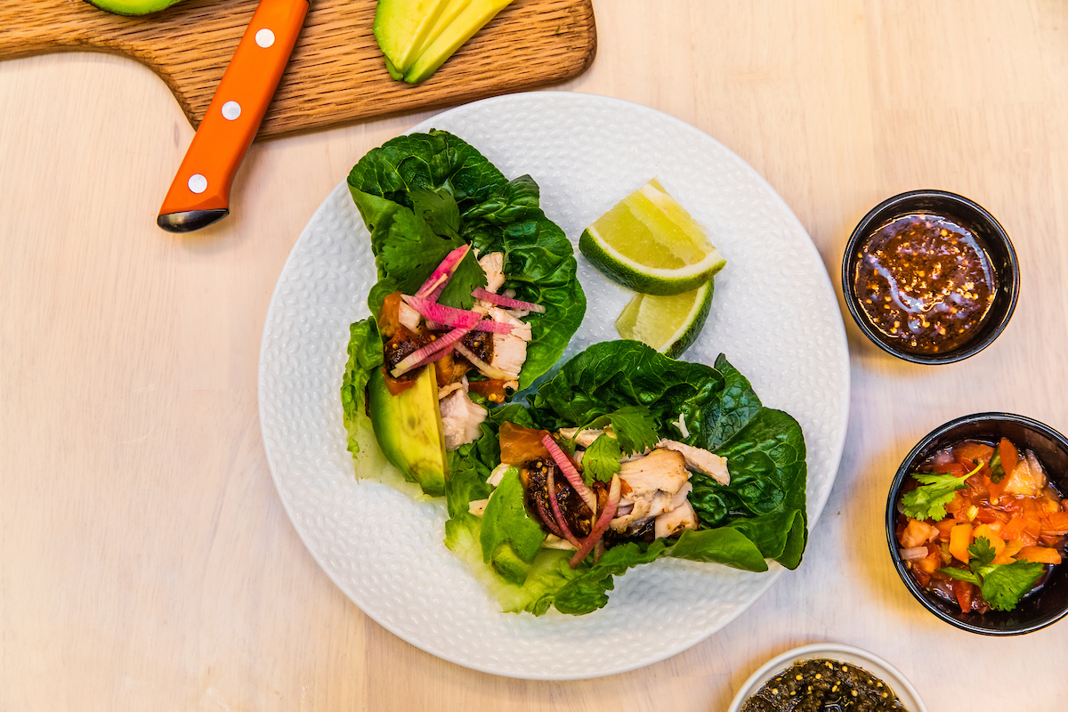 Lettuce Cups with Chicken