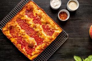 B Square Cheese Pizza