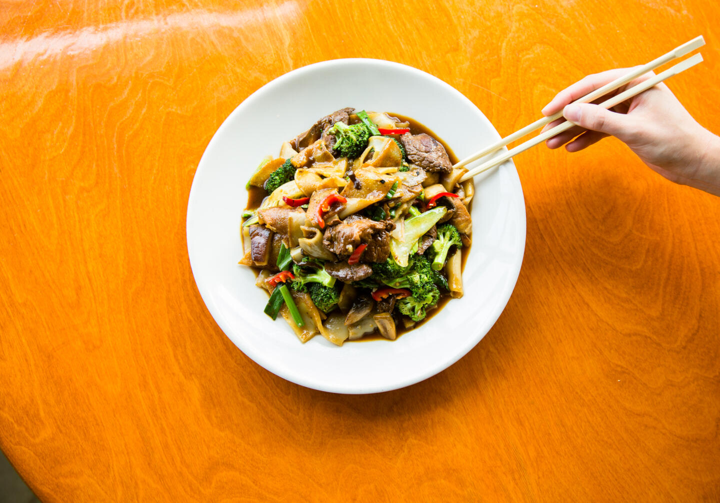 Ginger Beef Chow Fun Noodles