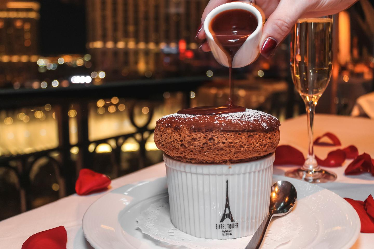 Chocolate Souffle at Eiffel Tower