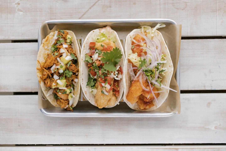 Tallboy Tacos three tacos