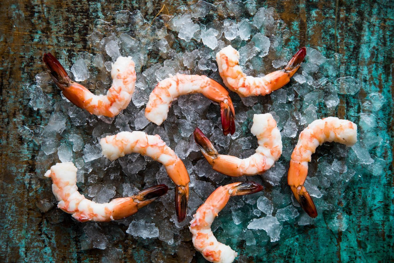 Fresh shrimp at Oyster Bah
