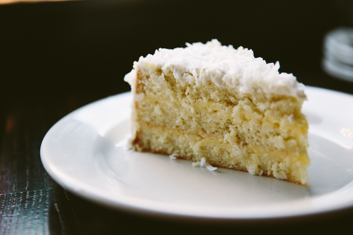 Coconut Cake at Oyster Bah