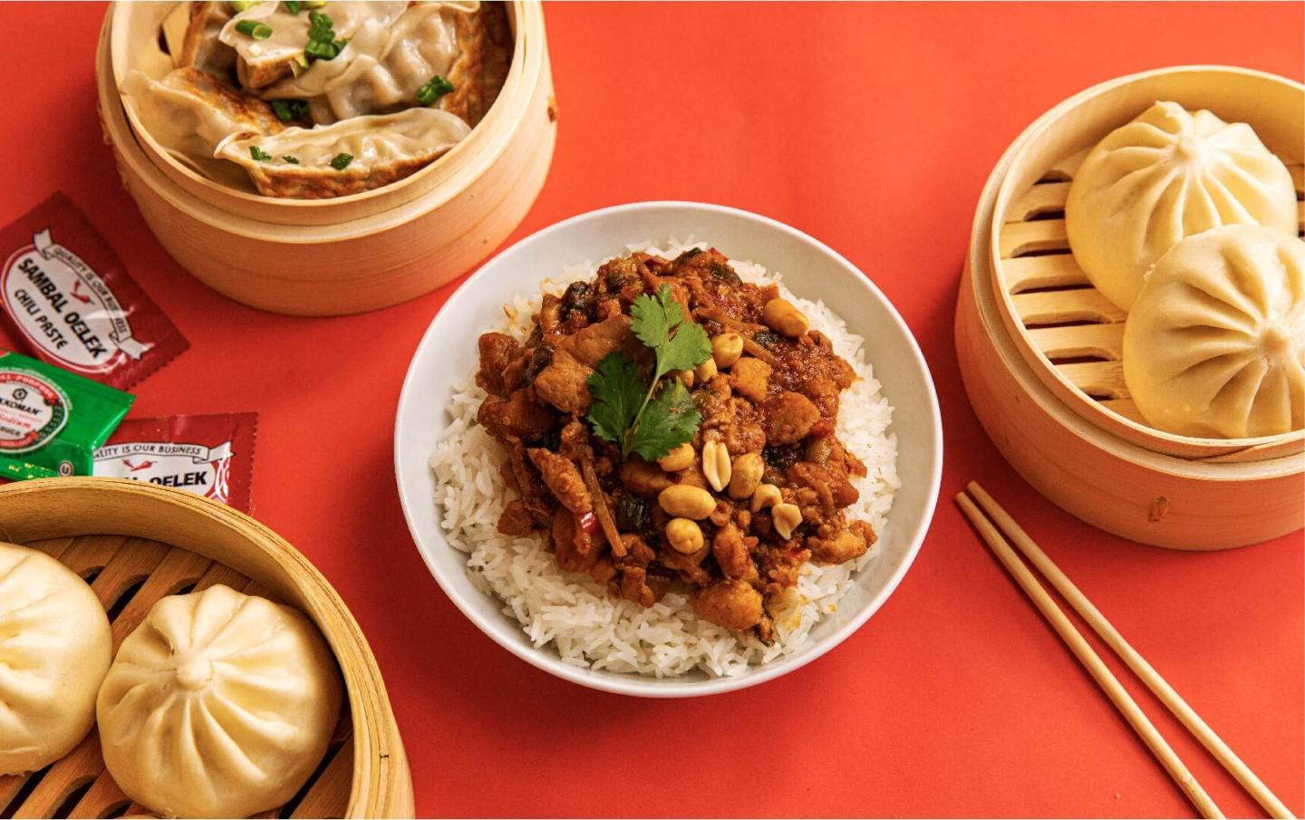 wow bao spicy kung pao chicken bowl