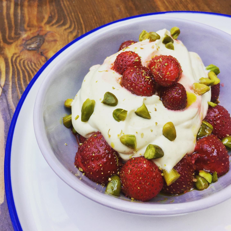 Strawberries dessert from stella barra