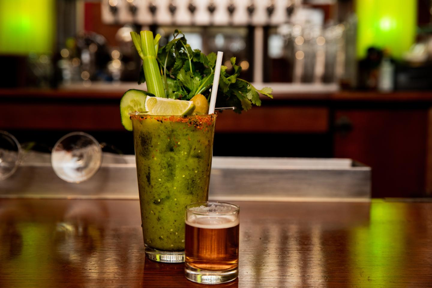 Shaw's Verde Mezcal Bloody Mary