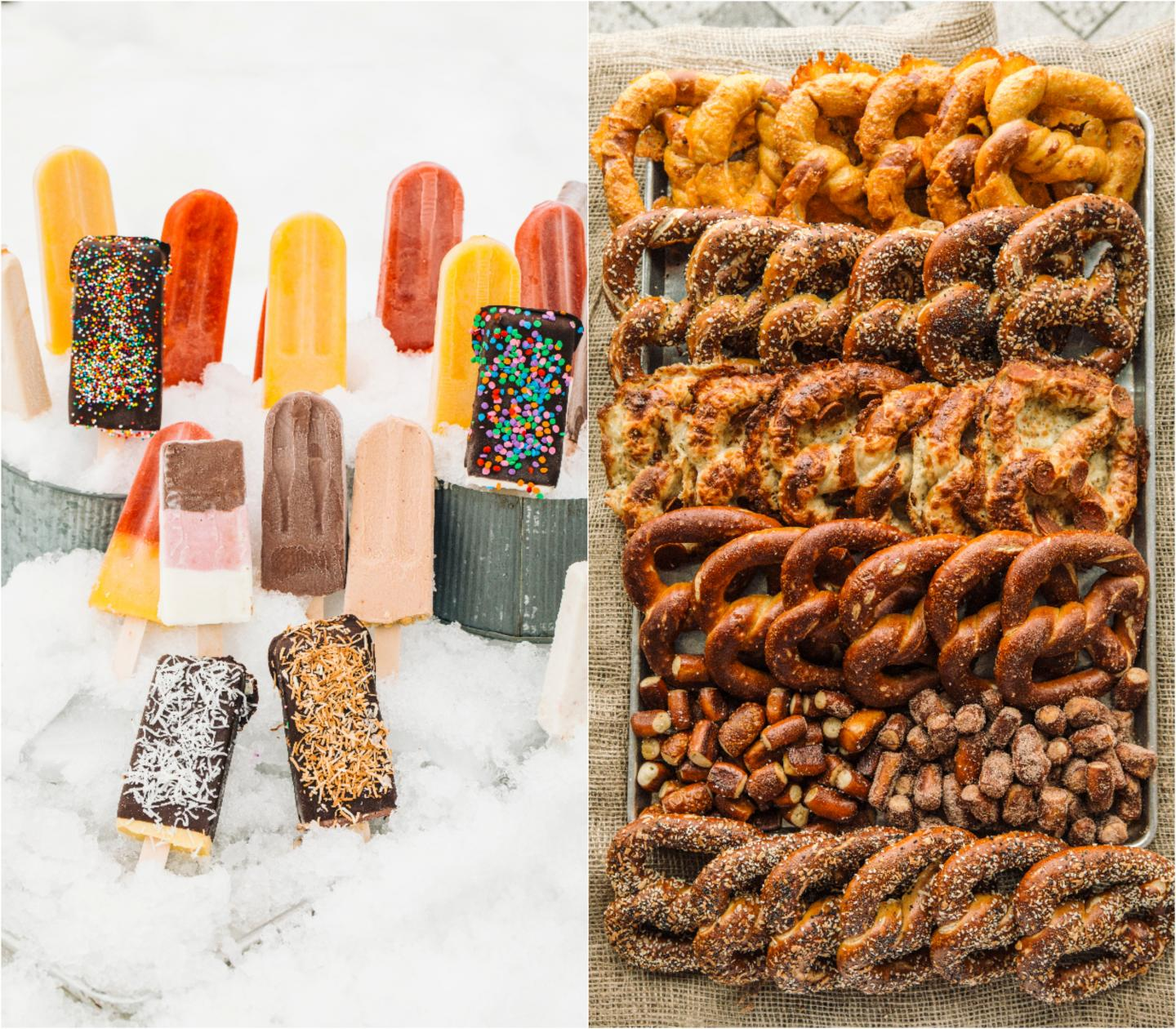 popsicles and pretzels in ozzie's