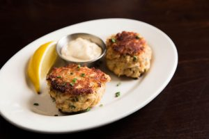 Crab Cakes at Happy Hour at Wildfire D.C.