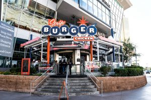 Celebrate Christmas Eve in Las Vegas on the Stripburger & Chicken patio