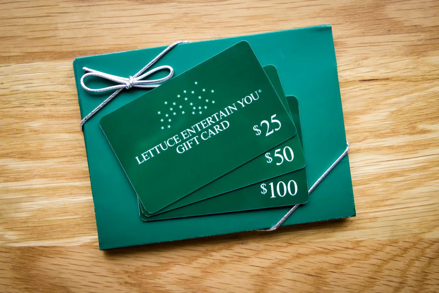 gift card from Lettuce Entertain You