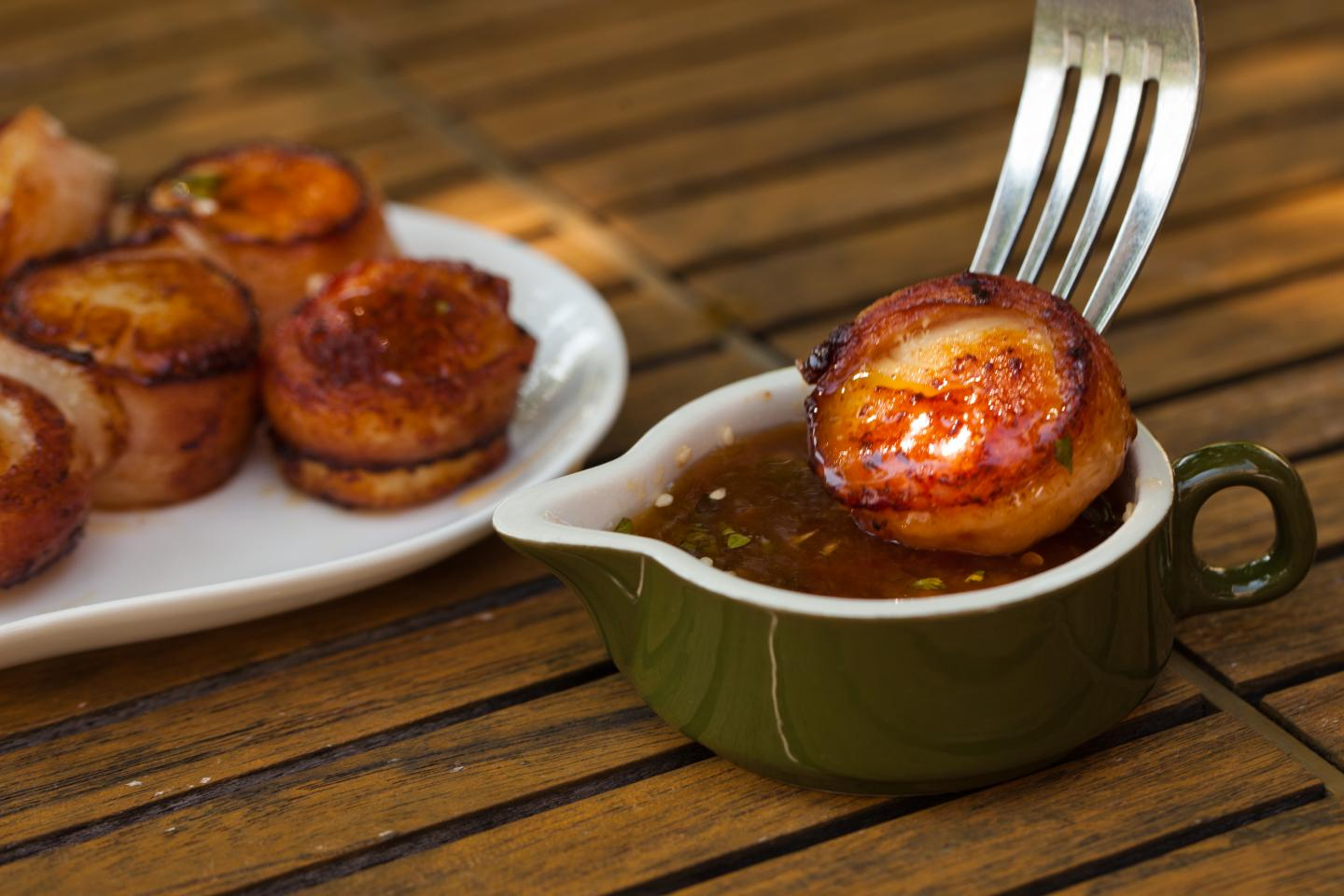 Wildfire Gluten-Free Applewood Smoked Bacon Wrapped Sea Scallop Skewers
