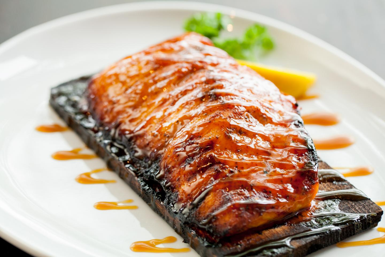 Wildfire Gluten-Free Cedar Planked Salmon