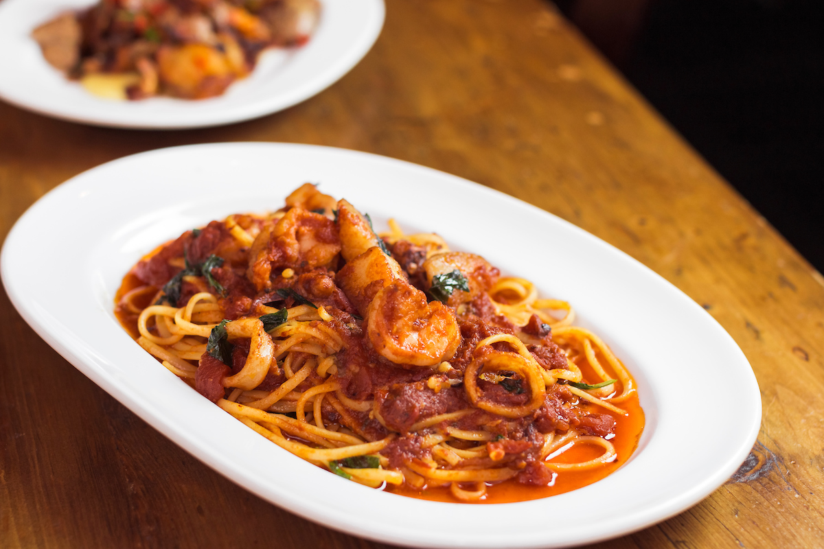 SEafood linguine from Osteria