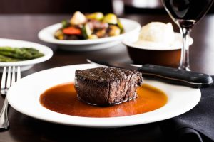 Filet at Wildfire for Christmas Eve in the Twin Cities