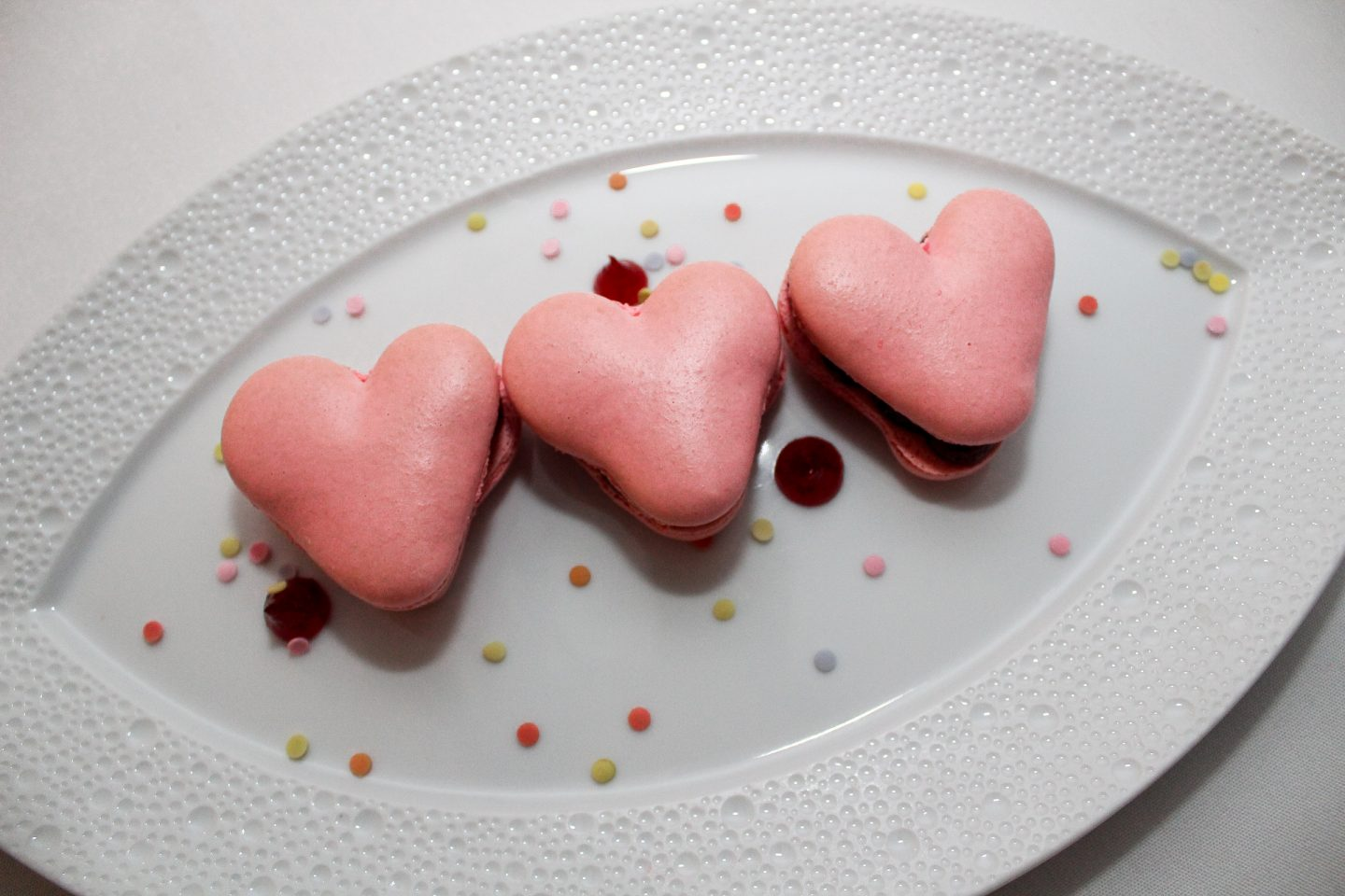 heart shape dessert from booth one