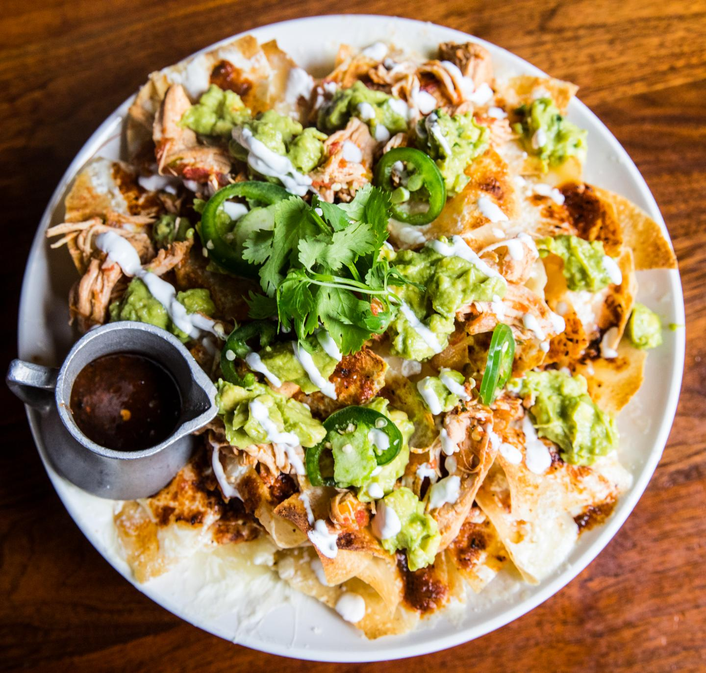 Hub 51 Famous Pulled Chicken Nachos
