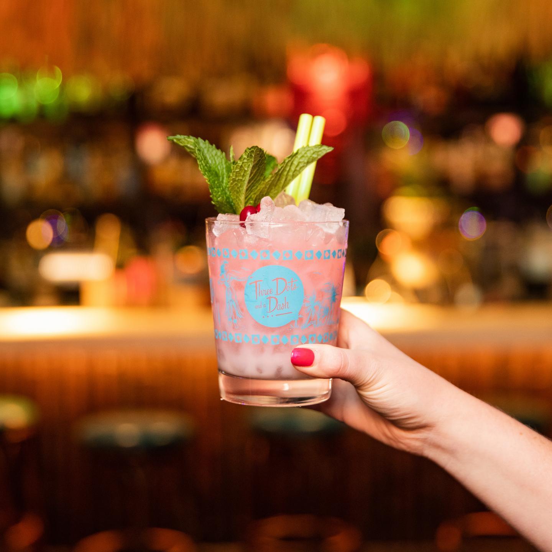 Three Dots Mistletoe Mai Tai Holiday Cocktail