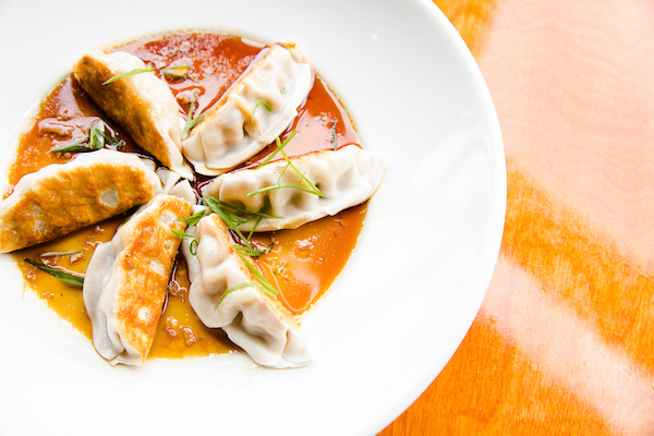 potstickers from Big Bowl at Happy Hour in Twin Cities
