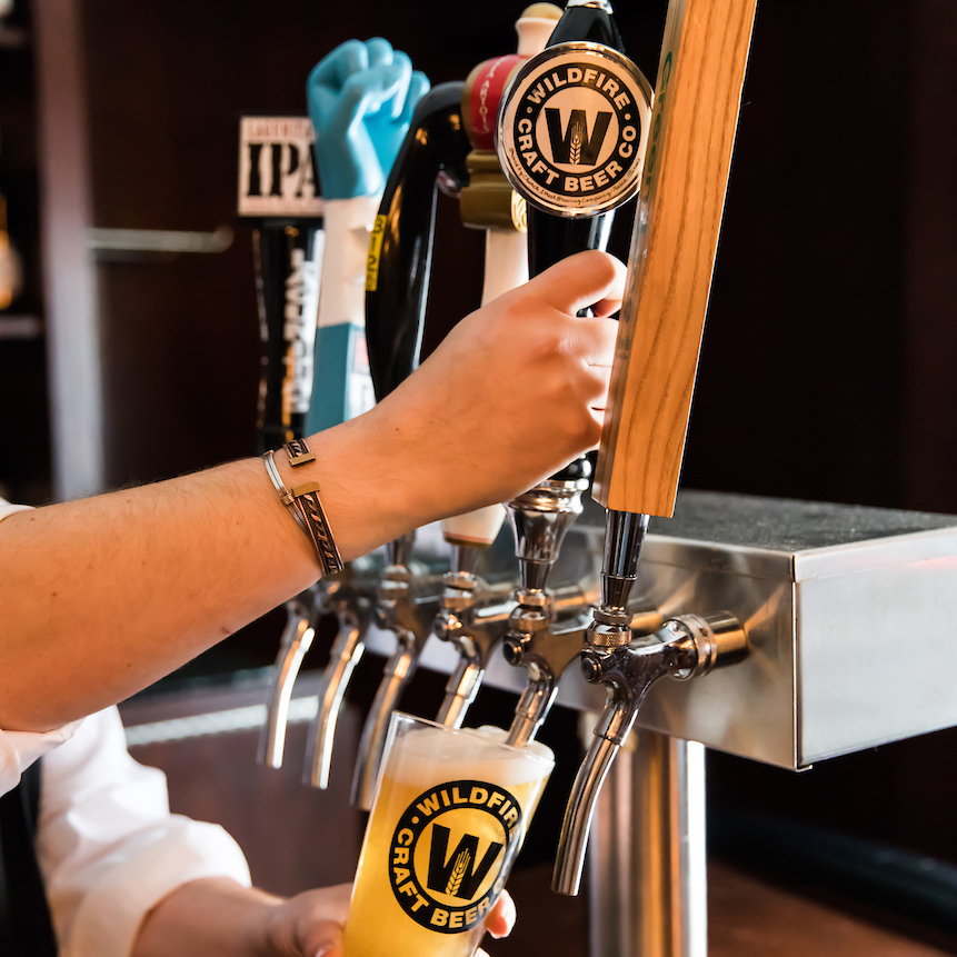 wildfire beer on tap