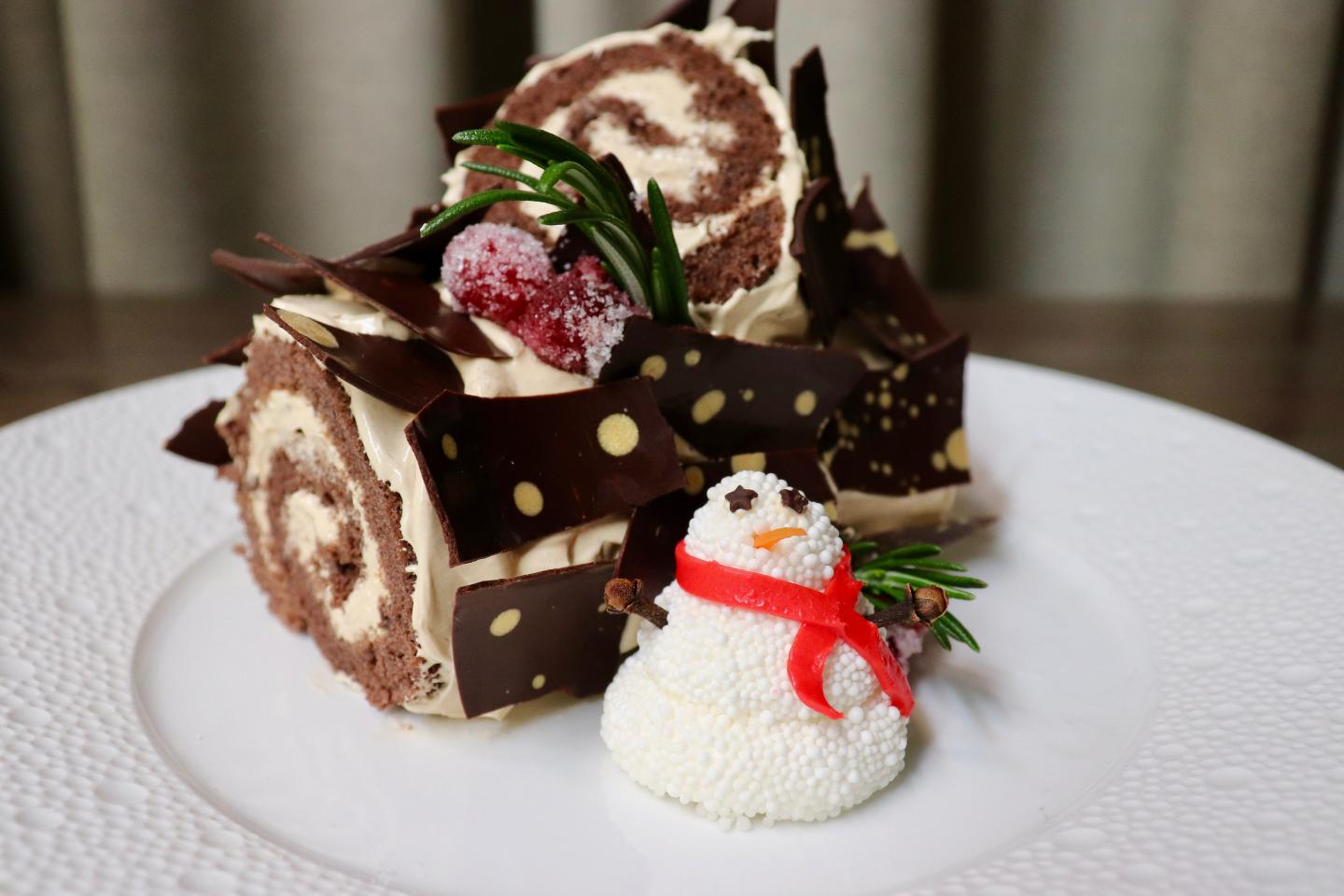 Booth One Buche de Noel Holiday Dessert