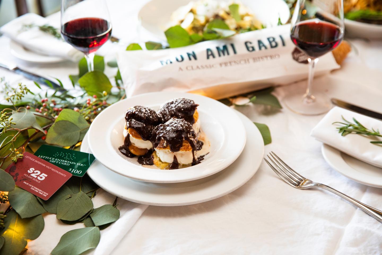 Mon Ami Gabi Holiday Gift Card Shoot 2018