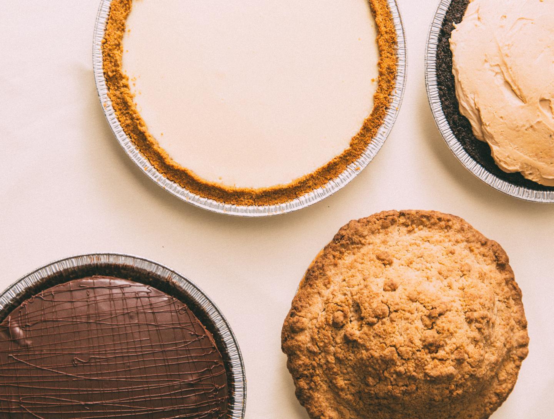 Four of Joe's pies