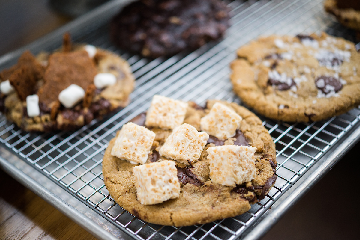 summer house cookies on a rack